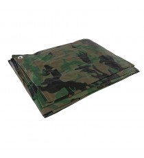 2.4m x 3m Camo Tarpaulin - Waterproof and Tear-Proof