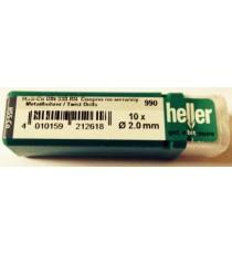 Heller 2mm HSS Cobalt Metal Drill Bits - 10 Pack