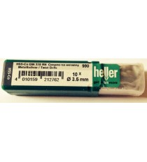 Heller 3.5mm HSS Cobalt Metal Drill Bits - 10 Pack