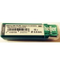Heller 3mm HSS Cobalt Metal Drill Bits - 10 Pack