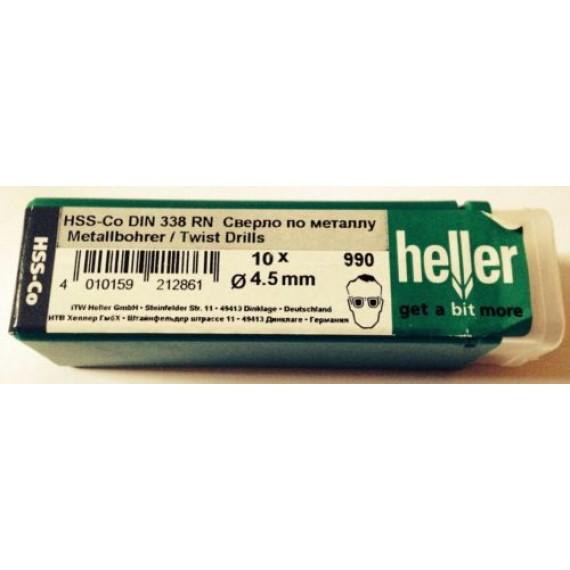 Heller 4.5mm HSS Cobalt Metal Drill Bits - 10 Pack