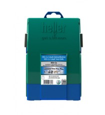 Heller 19 piece HSS Cobalt Metal Drill Bit Set 1mm - 10mm