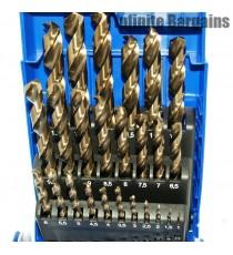 Heller 25 Piece HSS-Co Cobalt Metal Drill Bit Set 1mm-13mm