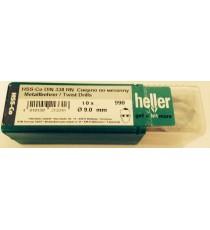Heller 9mm HSS Cobalt Metal Drill Bits - 10 Pack