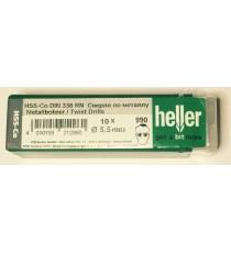 Heller 5.5mm HSS Cobalt Metal Drill Bits - 10 Pack