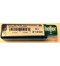 Heller 1.5mm HSS Cobalt Metal Drill Bits - 10 Pack
