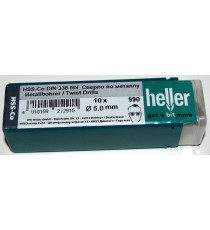 Heller 5mm HSS Cobalt Metal Drill Bits - 10 Pack