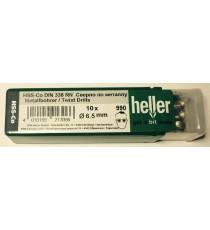 Heller 6.5mm HSS Cobalt Metal Drill Bits - 10 Pack