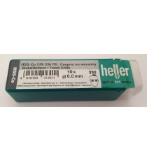Heller 6mm HSS Cobalt Metal Drill Bits - 10 Pack