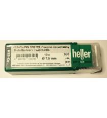 Heller 7.5mm HSS Cobalt Metal Drill Bits - 10 Pack