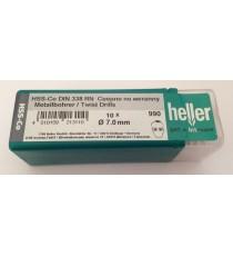 Heller 7mm HSS Cobalt Metal Drill Bits - 10 Pack