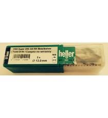 Heller 13mm HSS Ground Super Twist Metal Drill Bits - 5 Pack