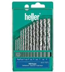 Heller 13 piece HSS Ground Super Twist Metal Drill Bit Set 2mm - 8mm