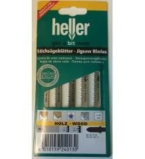 Heller T101B HCS Wood Jigsaw Blades - 5 Pack