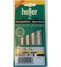 Heller T101D HCS Wood Jigsaw Blades - 5 Pack
