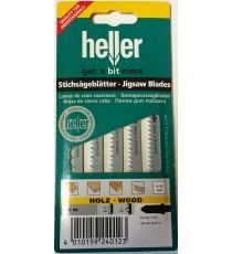 Heller T111C HCS Wood Jigsaw Blades - 5 Pack