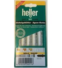 Heller T119B HCS Wood Jigsaw Blades - 5 Pack