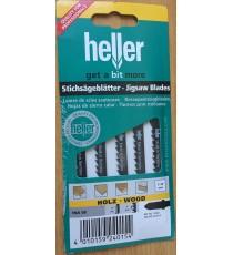 Heller T144D HCS Wood Jigsaw Blades - 5 Pack