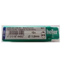 Heller 1mm HSS Rolled Twist Metal Drill Bits - 10 Pack