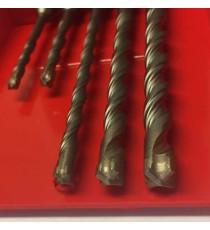 Heller SDS+ Plus XForce 5 piece Hammer Drill Bit Set 5mm - 10mm