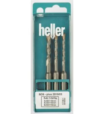 Heller SDS-Plus Bionic 3 piece Hammer Set 5mm - 8mm