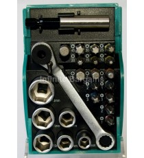 Heller 24 Piece Socket Wrench & Screwdriver Bit Set