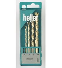Heller 4pc AllMat Universal Drill Bit Set 5mm - 10mm
