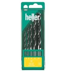 Heller 5 piece CV Brad Point Wood Drill Bit Set 4mm - 10mm