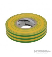 Green/Yellow Electricians PVC Insulation Tape 19mm x 33m